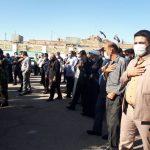 حضور فرماندار مسجدسلیمان در مراسم وداع و تشییع پیکر شهید روزعلی ایزدیان