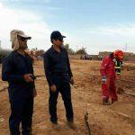 بازدید مدیر عامل مناطق نفت خیز جنوب از محل حادثه نشت خط لوله نفت شرکت آغاجاری